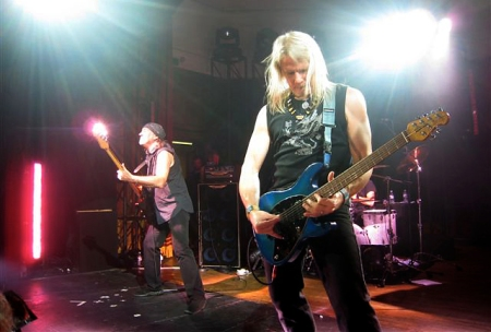 Roger Glover and 'the freshly manicured' Steve Morse...