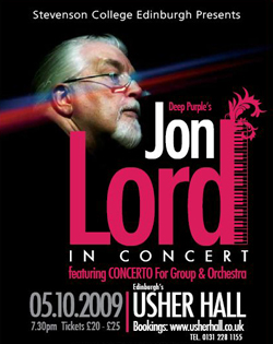 Jon Lord - poster for Edinburgh Concerto
