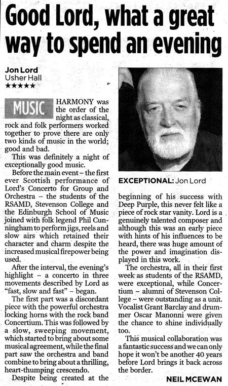 Edinburgh Evening News review