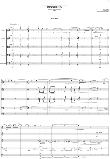 Disguises 1.(2006) M.A.s.q.u.e.Full Score.sib final revised - Full Score (dragged)
