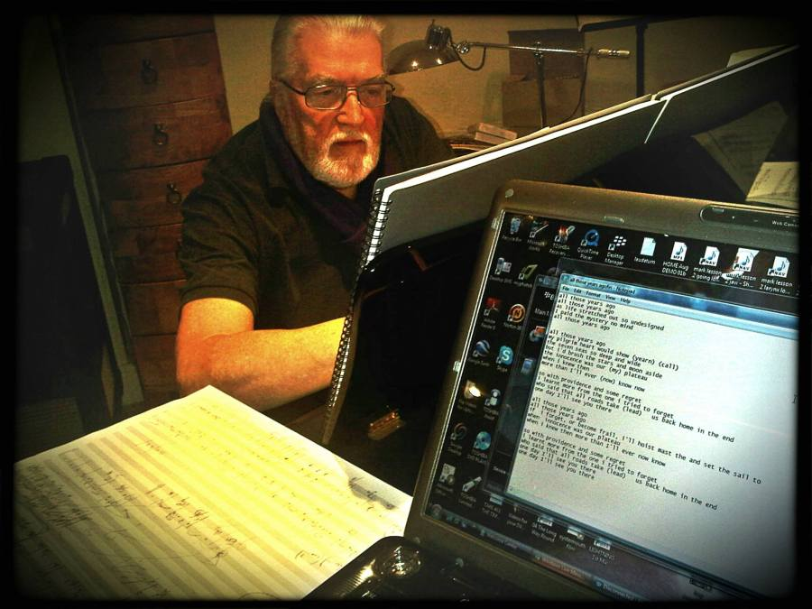 Jon Lord in writing session with Steve Balsamo, February 2010