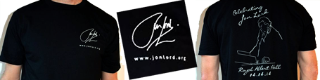 Celebrating Jon Lord t-shirts