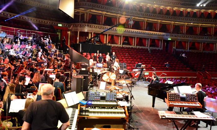 Afternoon of April 4 dress rehearsal at Royal Albert Hall. Photo: Nigel Hopkins