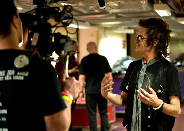 Glenn Hughes interviewed backstage at Royal Albert Hall for the DVD documentary. Photo: Toward Infinity