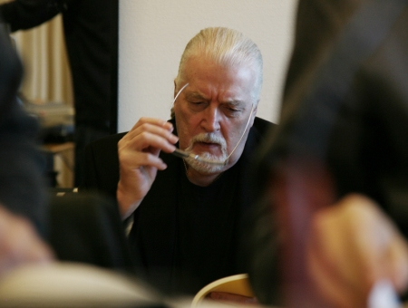 Jon Lord during the recording of Boom of the Tingling Strings in Odense, Denmark 2008