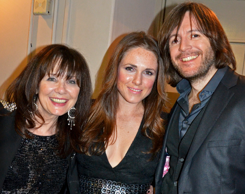 Singers Margo Buchanan (left) with Sandie Thom and Steve Balsamo, who sang Soldier of Fortune in the second half. Photo: Nigel Hopkins