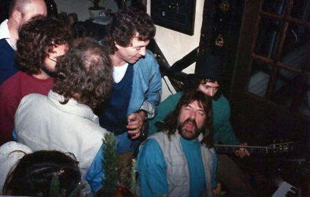 Happy times with Ian Paice, Roger Glover, Ian Gillan, Jon Lord, Ritchie Blackmore. 1984. Photo: private