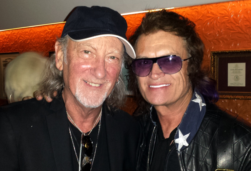 Roger Glover and Glenn Hughes after the concert. Photo: Rasmus Heide