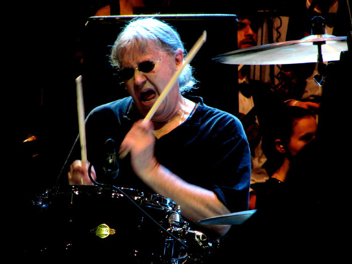 Ian Paice. On the drums. Photo: Moth Clark