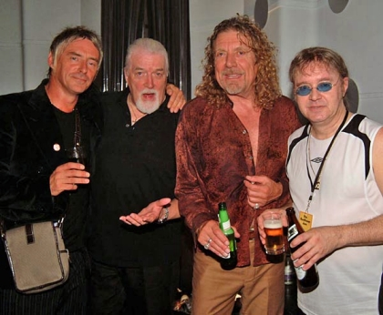Jon with Paul Well, Robert Plant and Ian Paice at the Sunflower Jam 2006