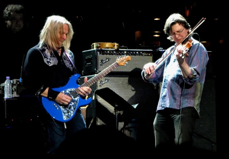 Steve Morse with Steven Bentley-Klein on Lazy. Photo: Moth Clark