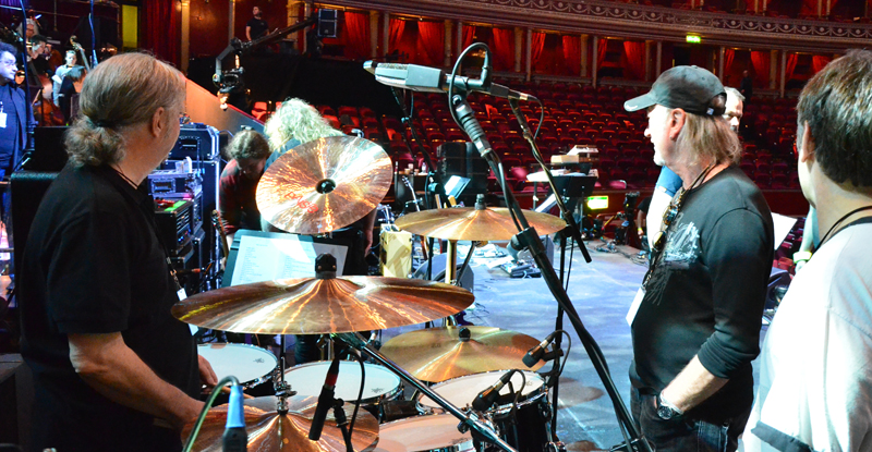 Afternoon dress rehearsal with Paul Mann, Ian Paice, Roger Glover, Bruce Dickinson. Photo: Nigel Hopkins