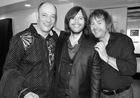 Wix Wickens, Steve Balsamo and Nigel Hopkins backstage at Celebrating Jon Lord