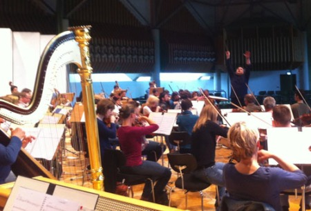 Conductor Paul Mann reaches high to ensure a very special performance tonight in Hagen