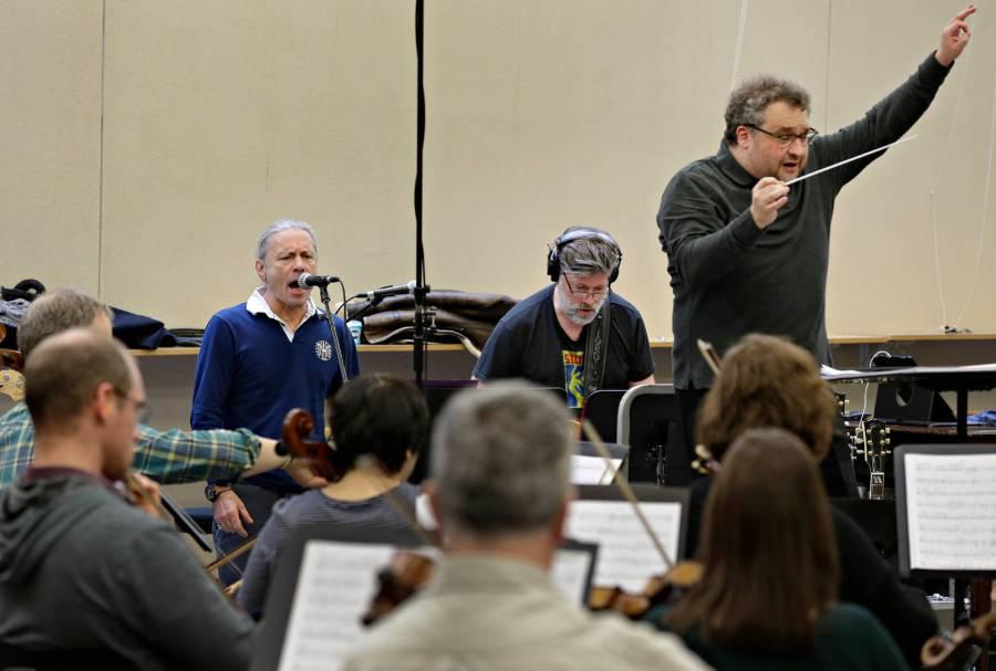 Orchestra bruce Mann rehearsal